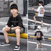 男童夏裝套裝中大童夏季童裝兒童短袖兩件套男孩帥氣裝 港仔會社
