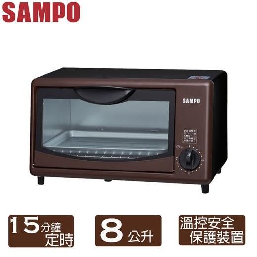 (((福利電器))) SAMPO 聲寶 8L電烤箱(KZ-SJ08) 優質福利品 溫控安全裝置 可超取