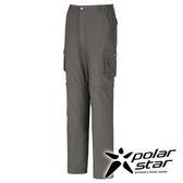 PolarStar SUPPLEX 抗UV兩截式長褲男『暗灰』戶外│休閒│登山│露營│防曬│吸濕排汗│短褲 P16347