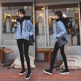 打底褲女外穿春季2018新款高腰黑色薄款韓版九分褲顯瘦小腳鉛筆褲