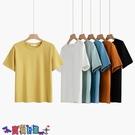 短袖T恤 素色T恤白色短袖t恤女寬鬆韓版夏2021年新款春季設計感小眾純色圓領上衣【寶貝 上新】