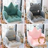 坐靠背一體坐墊靠墊座椅墊凳子椅子墊子家用卡通【宅貓醬】