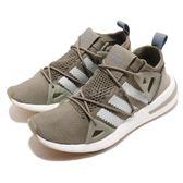 adidas 慢跑鞋 ARKYN W 綠 白 襪套式 繫帶芭蕾系列 運動鞋 女鞋【PUMP306】 B37072