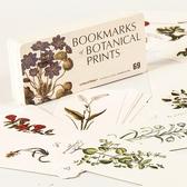 書籤小協奏曲精美書簽創意白卡紙進口植物手繪涂鴉大卡背面空白書簽交換禮物