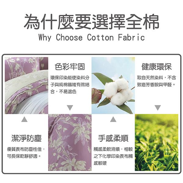 【FITNESS】精梳棉雙人四件式被套床包組-緲緲煙花(紫)_TRP多利寶