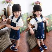 女童牛仔背帶裙秋季韓版童裝新款女孩時尚洋裝寶寶吊帶裙子