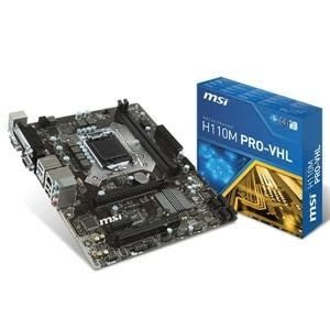 【台中平價鋪】全新 微星H110M PRO-VHL Intel 主機板