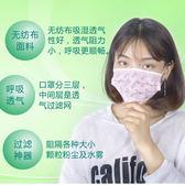 【新年鉅惠】 一次性口罩印花女神防曬防塵女時尚韓版冬季三層加厚