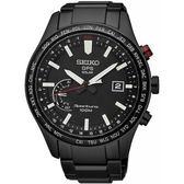 【台南 時代鐘錶 SEIKO】精工 Sportura 衛星定位太陽能運動腕錶 SSF005J1@8X22-0AC0SD 黑鋼 45mm
