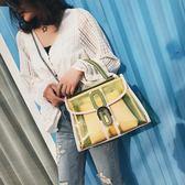 小包包女透明單肩子母包正韓鍊條簡約百搭斜挎女包小方包側背包  蒂小屋服飾