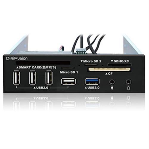 伽利略 5.25吋多介面整合器 (U3讀卡機+U2 ATM+HUB)