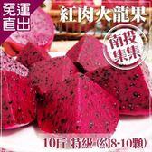 預購-家購網嚴選 集集農會 特級紅肉火龍果10斤裝 (約8-10顆/盒)【免運直出】