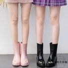 雨靴女成人防水韓國時尚果凍雨鞋可愛中筒防滑水靴【時尚大衣櫥】