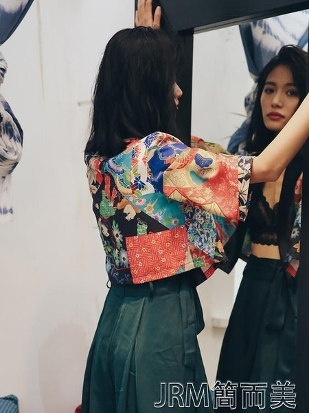 SINCE THEN從那以後原創設計日式防曬短外套和服式開襟外搭女夏 簡而美