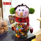 聖誕節雪人款禮糖果罐儲物罐公仔