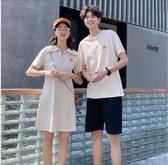 情侶裝 不一樣情侶裝夏裝新款小眾設計感連衣裙一裙一衣氣質