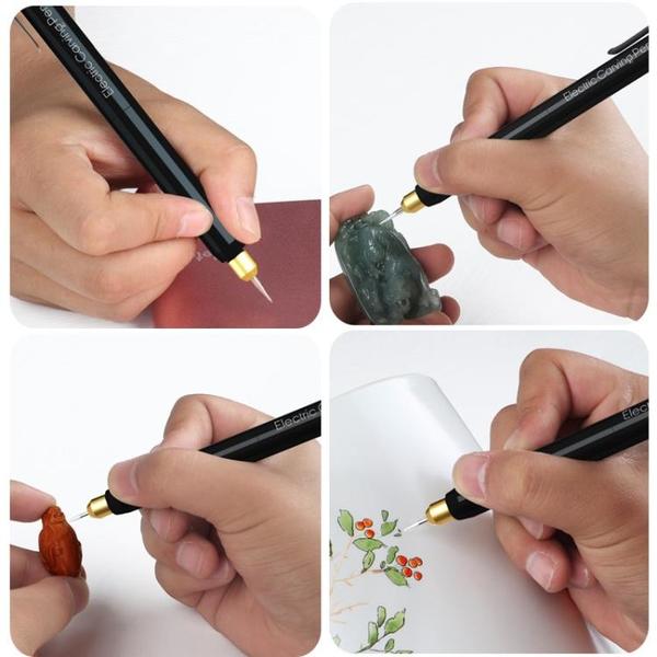 110V現貨 微型電動雕刻筆 迷你小電磨拋光機標記號筆 根木雕玉石刻字工具