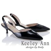 2018 春夏_Keeley Ann 俐落 素色漆皮 真皮尖頭跟鞋黑色Ann 系列