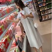 初心 吊帶長裙 【DS2489】 鄰家女孩 兩件式 短袖 棉T 十 吊帶裙 背心裙