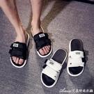 拖鞋男夏室外潮流韓范個性一字拖新款情侶外穿沙灘鞋涼鞋 艾美時尚衣櫥