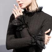 長袖半高領上衣套頭針織衫(二色S-3XL可選)/設計家 AL28759