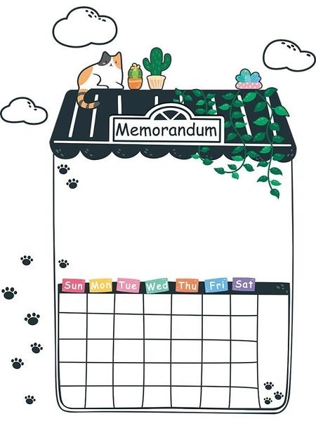 冰箱貼可擦寫冰箱貼留言板黑板貼磁貼寫字板冰箱貼紙裝飾個性創意記事貼 果果生活館