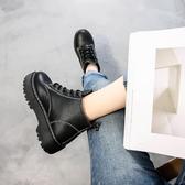 2020冬季新款加絨chic馬丁靴女秋季英倫風女鞋學生百搭棉靴子短靴‧衣雅