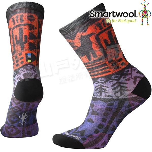 Smartwool Curated SW003825-591山嵐紫 女印花輕薄中長襪 美麗諾羊毛襪/機能排汗襪