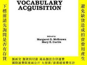 二手書博民逛書店The罕見Nature Of Vocabulary AcquisitionY307751 Margaret G