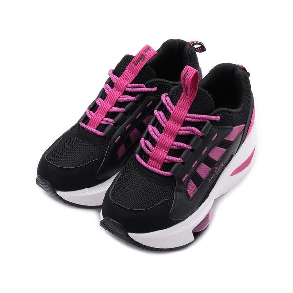 LEON CHANG 雨傘牌 彈性氣墊厚底運動鞋 黑 LDL7484 女鞋