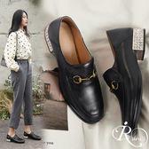 歐美時尚OL簡約金屬造型方頭穆勒鞋/1色/35-40碼 (RX0415-S003) iRurus 路絲時尚