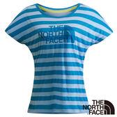 The North Face 女 LOGO短袖T恤-粉藍 NF00CZR945Y-AA【GO WILD】