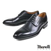 【Marelli】經典橫飾德比紳士鞋 黑色(217M-BL)