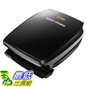 [7美國直購] George Foreman 4-Serving Nonstick Classic Contact Grill, Black, GR340FB 烤肉機