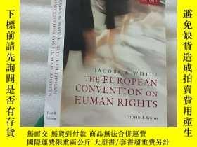二手書博民逛書店THE罕見EUROPEAN CONVENTION ON HUMA