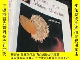 二手書博民逛書店Ethical罕見Issues in Modern Medicine (Fourth Edition)Y248