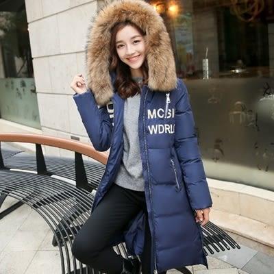 羽絨外套 中長款-時尚毛領修身保暖女夾克2色73it160【時尚巴黎】