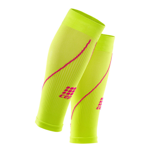 CEP 【歐洲第一品牌】壓縮腿套 - 檸檬綠/粉