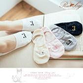 襪子 刺繡貓咪隱形襪-Ruby s 露比午茶