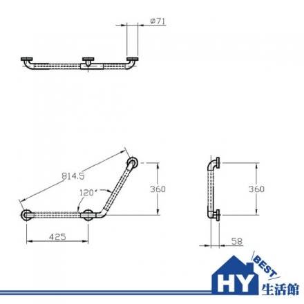 "HCG 和成 HF198AW(1 1/3"") 一般用安全扶手 -《HY生活館》水電材料專賣店"