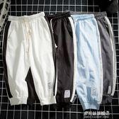 夏季薄款休閒褲短褲男士褲子大碼寬鬆運動七分褲韓版潮流男褲 多莉絲旗艦店
