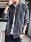 襯衫 男士2021春季新款長袖襯衣港風日系休閑男裝春裝上衣外套【牛年大吉】