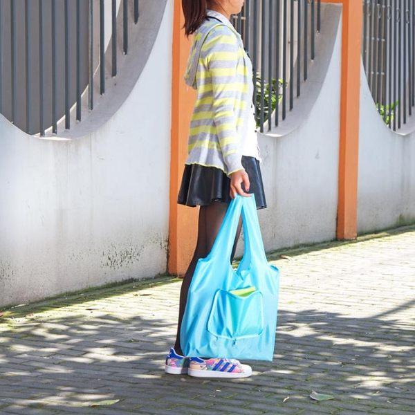 [超豐國際]便攜超市買菜購物袋手提袋大號可折疊防水袋子牛津布環保袋