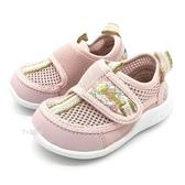 《7+1童鞋》日本 IFME 透氣 魔鬼氈 寶寶機能 學步涼鞋 水涼鞋 D443 粉色