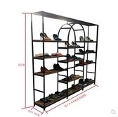 商場鞋店鞋架展示架落地式鞋櫃店鋪鞋架鐵藝貨架服裝店櫥窗展示架ATF 艾瑞斯居家生活