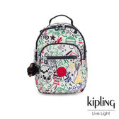 Kipling 童趣派對塗鴉機能手提後背包-小-SEOUL GO S
