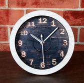 雕刻木頭鬧鐘(白木頭色)