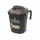 樂扣樂扣廚餘桶回收桶垃圾桶3L四面環扣防止異味散出-大廚師百貨