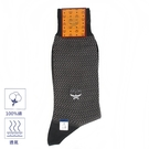 MCM波浪紋刺繡LOGO紳士襪(黑色)980284