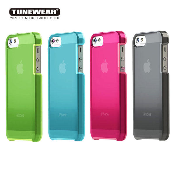 TUNEWEAR TUNESHELL RUBBER FRAME iPhone SE/5S 膠框透明殼